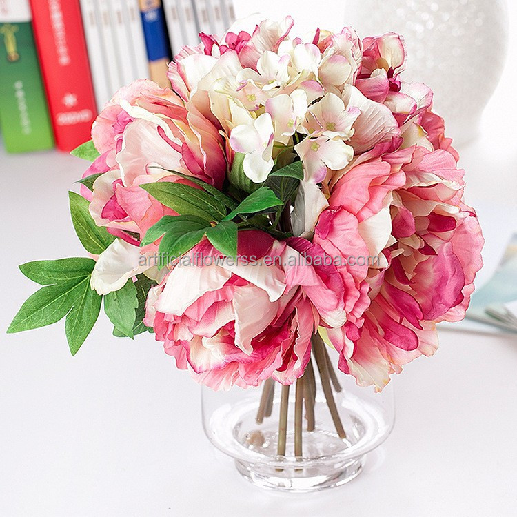 Artificial Wholesale Wedding Flower Bouquet Silk Flower Peony Buy Peony Bou