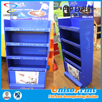 Multi-tiers chocolate display floor standing lightweight paper shelf display