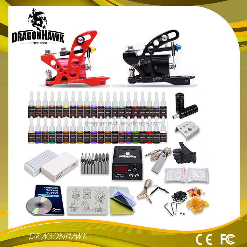 Wholesale Tattoo Kit 2 Rotary Guns Kit Tattoo Kit Rotary Motor Guns