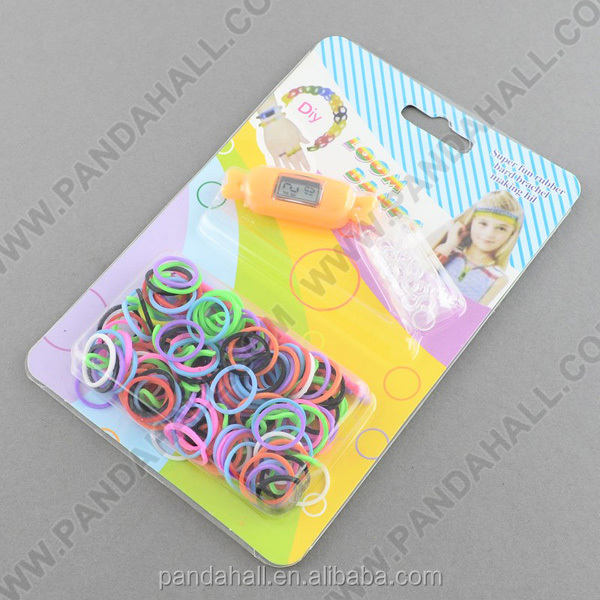 Fun DIY Loom Bands Watch Kits, Watch Making Kits(DIY-R015-02)