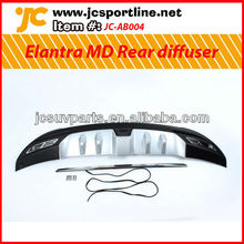 For 2010-12 Hyundai Elantra (Avante) MD new style Rear bumper diffuser with silver painted guard