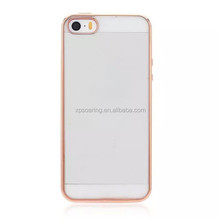Chrome tpu gel case skin cover for iPhone 5G 5S, Soft Clear case for iPhone 5