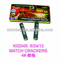 match cracker fireworks bangers K0204S