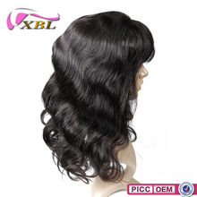 100% unprocessed virgin hair with top quality and beautiful style 8 inch human hair full lace wig