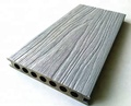 Cheap hollow co-extrusion wood-plastic composite wpc decking with deep wood texture
