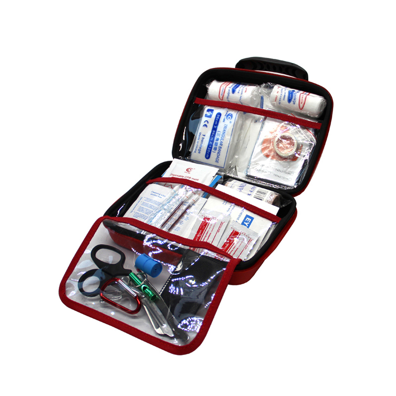 122 Pieces First Aid Kit Eva Bag Medical Kit for Home Travel Sports Camping Hiking Car Survival Emergencies