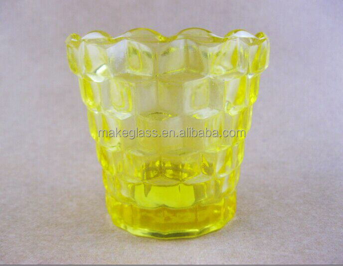 2014 new design popular glass candle holder