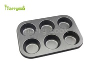 Non-stick Carbon Steel 6 cup Muffin Baking Pan