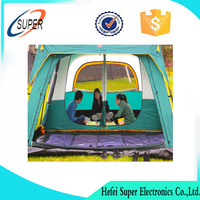 6--8 Person 4-Season outdoor Tent for Family Camping 2 Separated Room