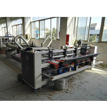 Factory price fully automatic corrugated carton box folder gluer machine