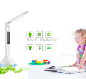 Dimmable Led Desk Lamp 4W USB Battery Charging Table Light with Calendar Alarm Timer Atmosphere Touch Key for Children