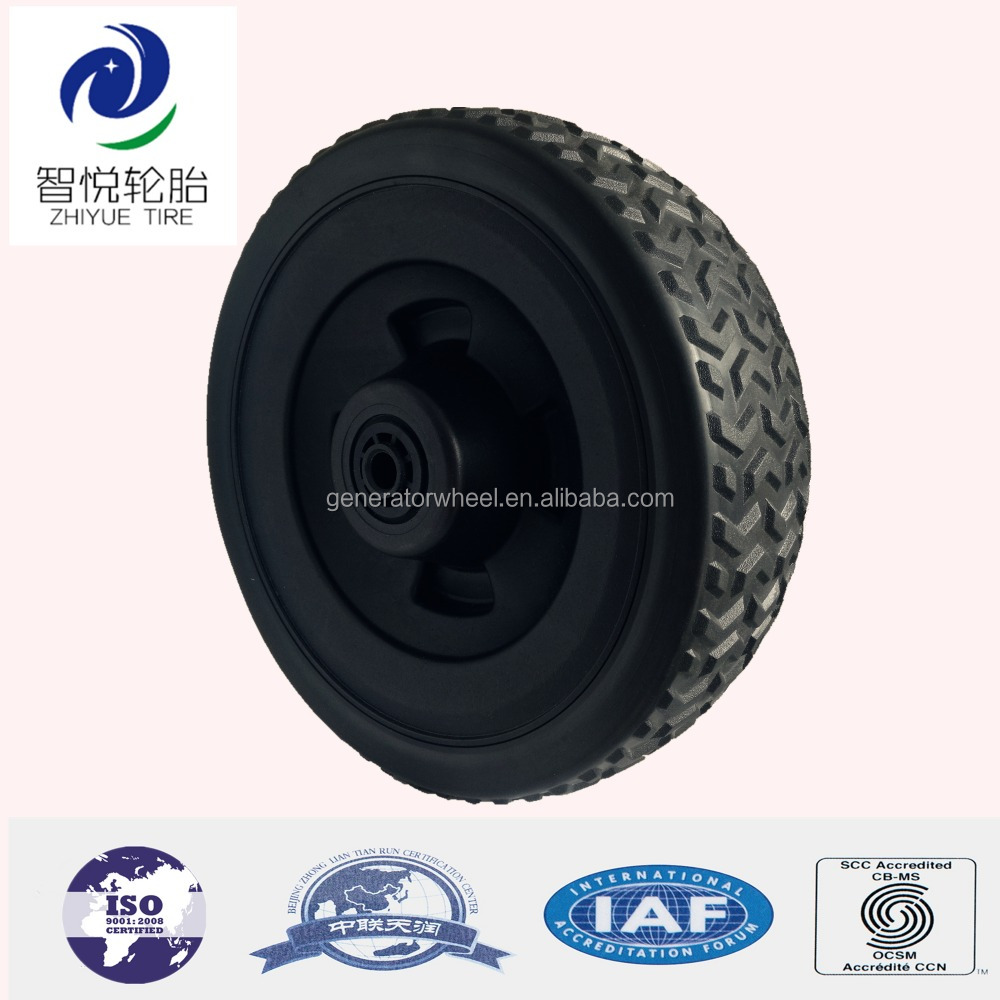 250mm blow molded wheels plastic wheel for sand