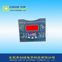 PET membrane remote control panel with window