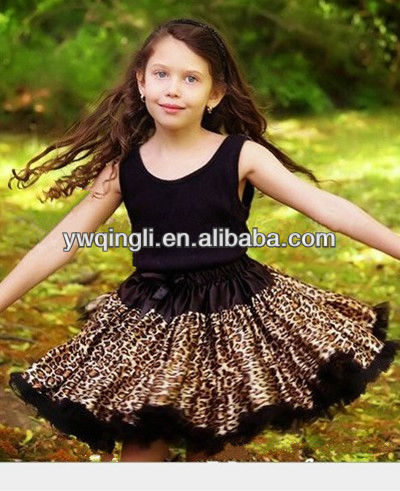 black leopard lace tutu and soild tank top outfit wholesale pettiskirts for Girls