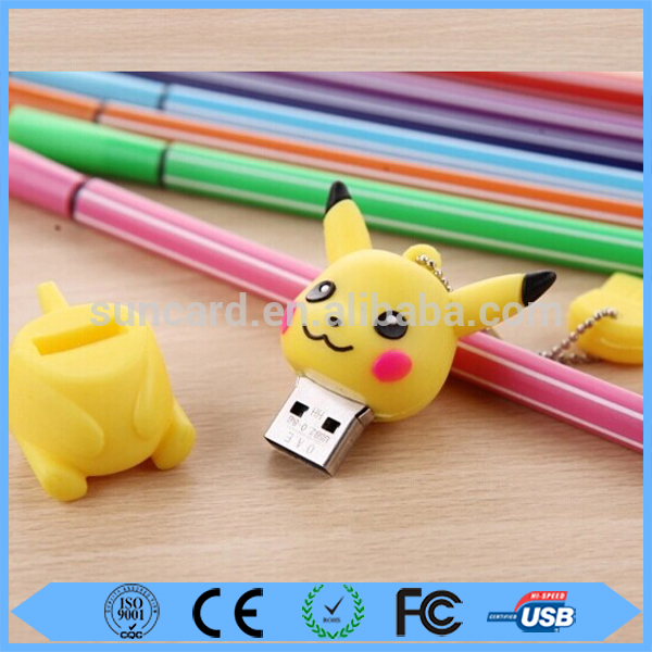 Low price silicone cartoon usb flash drive 16gb customized