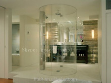 Sleek design modern tastes circular Frameless shower enclosure