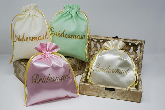 Luxury Wholesale Little Satin Gift Drawstring Pouches For Jewelry Package Storage Organizer