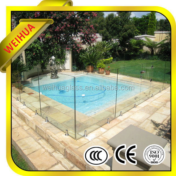 Safety glass fence/ tempered glass fence for pool/ tempered safety glass