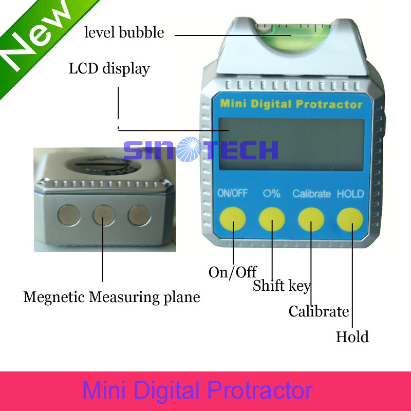Digital Inclinometer Mini Digital Protractor horizontal Bevel Box spirit <strong>level</strong>