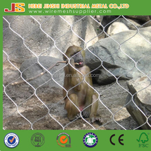 Flexible light weight rope wire mesh netting for animal zoo