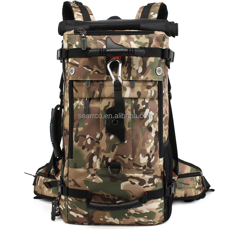 Large capacity sports travel camping camouflage backpack outdoor mountain climbing bag