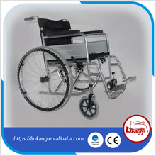Economy steel folding wheelchair new product 2017