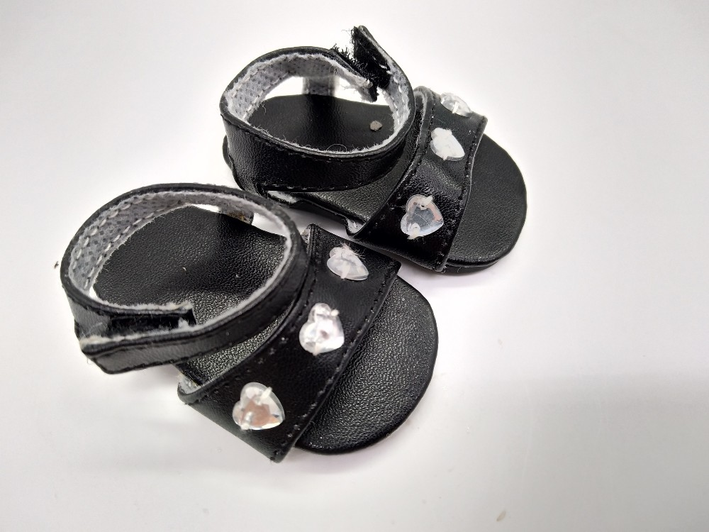 18 in doll shoes black antique wholesale