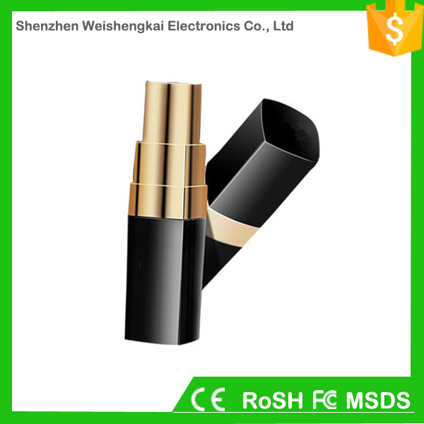 Promotional high capacity portable lipstick best cheap power bank