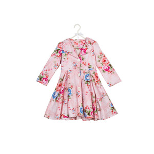 Import clothing from china kids winter outwear flower girls coats