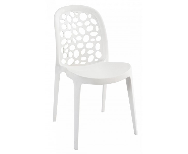 Modern Design Dinning/Outdoor Chair in Polycarbonate with Bold Details