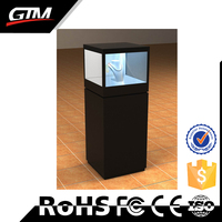 Excellent 55inch LED transparent display screen connect PC play the advertising for shop high transparency