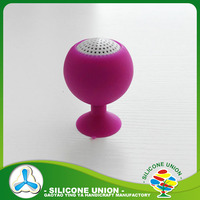 Hot sale silicone cell phone holder silicone mobile phone loudspeaker