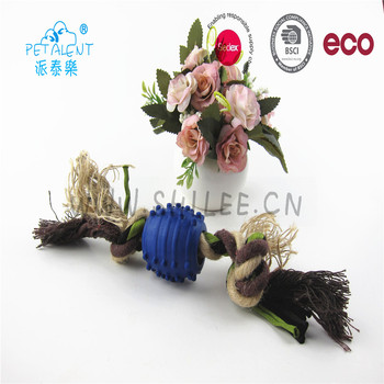 Eco-Friendly Pet Products Colorful dog Cotton Rope ball toy new Chew teething toy