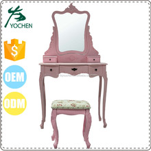 toilet rotate dressing table with stool for UK and Europe market
