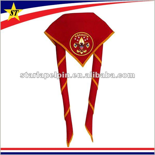 promotional cheap custom made logo patch boy scout scarf