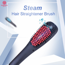 Unique and Patent Model Electric Ionic Spray Brush Fast Hair Straightener Comb