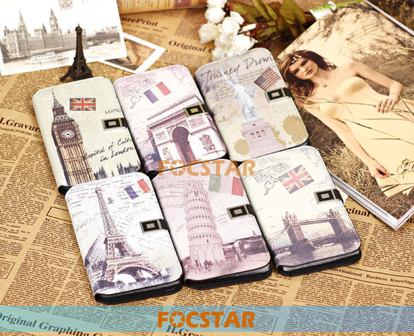 FOCSTAR Retro Style for Samsung Galaxy Mega 5.8 Wallet Leather Protective Case F-SI9150LC007