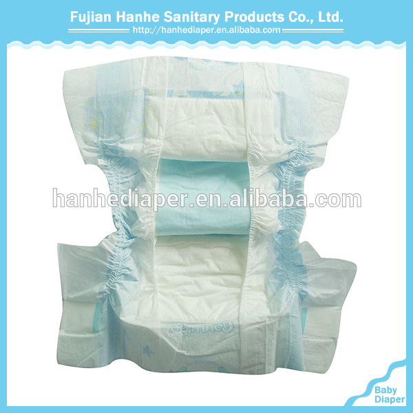 Customized ISO Certified Disposable Baby Fitted Nappies in 4 sizes