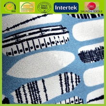 new Digital abstract bar printed silk chiffon georgette yarn fabric