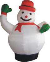 christmas tree decoration inflatable snowman blank christmas ornament