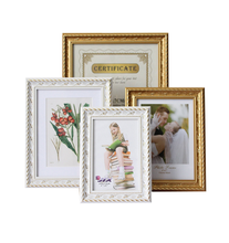 High quality gold silver photo frame a4 certificate frame