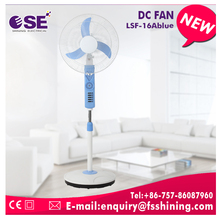 New design 12v rechargeable dc stand fan with CE