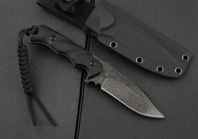 g10 handle stone washed hunting knife survival knives D2 Blade 4390
