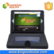 portable 8000mah foldable solar charger for ipad mini (with PVC case and holder)