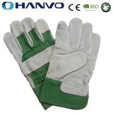HANVO 10.5'' Cheap Cow Split Leather Safety Welding Gloves