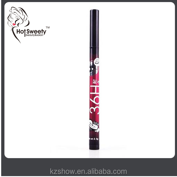 36hours longlasting eyeliner pencil private label black wet eyeliner pen cosmetic your label