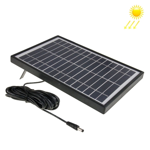 15V 5.5W Portable Solar Panel with Holder Frame, solar panel system Port(Black) mini solar panel