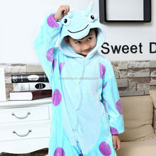China Supply 2014 New Design Plush Cute Kids Animal Pajamas Wholesale