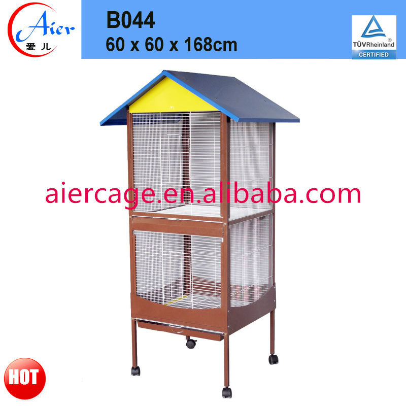 double layer bird flight cage
