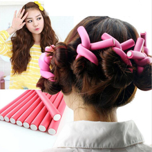 10Pc Hair Accessories Women Ladies Curler Makers Soft Foam Bendy Twist Curls Girls DIY Styling Hair Rollers Tool Women's Stylist